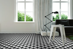 Love the large round pattern in this tile - floor or wall -available now at Tile Power Gregory Hills #tpghtiles #tiles #tilestyle #tilepowergregoryhills #trending