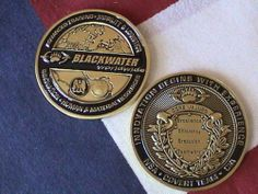 "Blackwater N s A CIA Covert Ops Team Mission 2"" Challenge Coin 3 Dimensional 