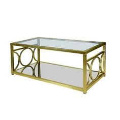 Coaster Company Satin Nickel Coffee Table | Overstock.com Shopping - The Best Deals on Coffee, Sofa & End Tables