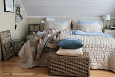 cosy bedroom - love these shades together! x