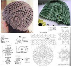 Easy Crochet Hat, Crochet Kids Hats, Crochet Cap, Crochet Diagram, Crochet Beanie, Crochet Motif, Crochet Clothes, Crochet Flowers, Crochet Stitches