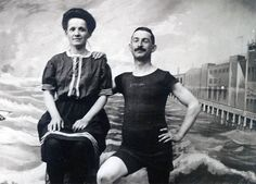 1903 Cute COuple Swimsuits Atlantic City New Jersey by maclancy