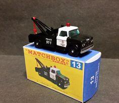 Matchbox 13 13d DODGE WRECK TRUCK ~ POLICE TOW TRUCK Custom Code 3 Wrecker LAPD   eBay