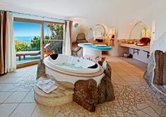Luxury Bathroom in the Presidential Suite, Valle dell Erica, Sardinia