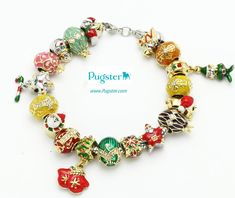 #pandora style beads  #pugster charms bracelets  #Crystal Faberge Egg   #fashion jewelry  Perfect new year #gifts