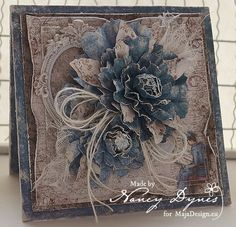 Tattered Treasures with a card using Maja Design products; Feb 2016