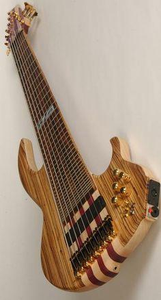 9 string Zebra Axe by DR Strings Guitar Pics, Guitar Art, Cool Guitar, Acoustic Guitar, Music Production Equipment, Rick E, All About That Bass, Ex Machina, Beautiful Guitars