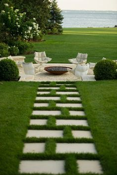 This is beautiful. The symmetry in the path, the seating design and all waterfront. Love it. Janice Parker   Time of delicacy