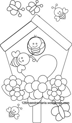 Read all of the posts by maestra maria on Maestramaria Art Drawings For Kids, Drawing For Kids, Easy Drawings, Art For Kids, Flower Coloring Pages, Colouring Pages, Coloring Books, Cute Doodle Art, Bee Boxes