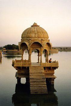 Meditation Tower, Gadisagar Lake, India