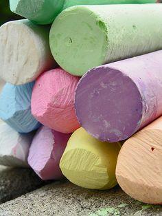 colorful sidewalk chalk