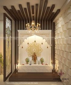 temple design for home Puja Room by CEE BEE Design Studio, Interior Designer in Bangalore ,Karnataka, India Living Room Partition Design, Pooja Room Door Design, Room Partition Designs, Ceiling Design Living Room, False Ceiling Design, Home Room Design, Home Interior Design, Living Room Designs, Studio Interior