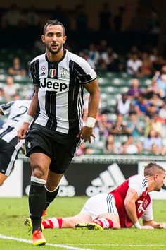 Juventus' player Medhi Benatia celebrates after scoring during the South China vs Juventus match of the AET International Challenge Cup on 30 July...