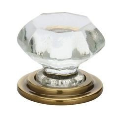 Emtek 86028 Old Town Inch Diameter Geometric Cabinet Knob from the Crystal French Antique Cabinet Hardware Knobs Geometric Crystal Knobs, Clear Crystal, Cabinet Knobs, Cabinet Hardware, Drawer Knobs, Antique Cabinets, Polished Nickel, Old Town, French Antiques