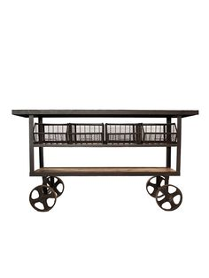 Industrial Console Cart - Gilt Home