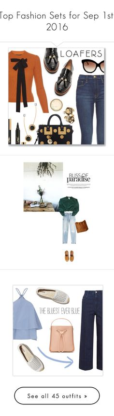 """""""Top Fashion Sets for Sep 1st, 2016"""" by polyvore ❤ liked on Polyvore featuring Rochas, Stuart Weitzman, Frame Denim, Sophie Hulme, Italia Independent, Irene Neuwirth, Yves Saint Laurent, Alexander McQueen, URiBE and Fall"""