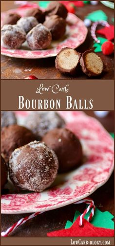 Old fashioned bourbon balls made low carb! All of the great flavor but less than one net carb each! from Lowcarb-ology.com