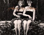 Magical Garden Ivy Nymphs Fairies Vintage