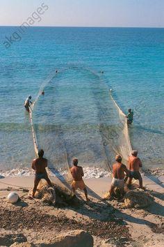 Italy – Sicily Region – Egadi Islands – Favignana Island – Fishing with fixed nets