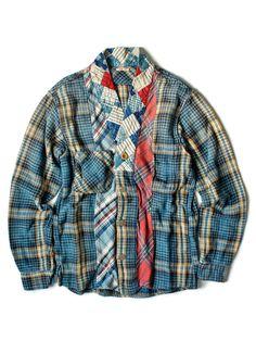 WEB SHOP - KAPITAL KOUNTRY Gauze Heavy Flannel Check JUBBAHN Shirt (DOTERA Remake)