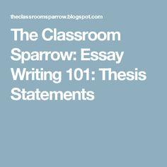persuasive essay writing persuasive essay writer tufadmersincom  the classroom sparrow essay writing 101 thesis statements