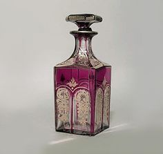 French Victorian accessories vanity item/perfume bottle crystal