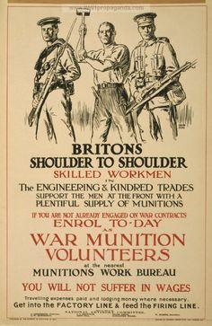 Examples of Propaganda from WW1   British WW1 Propaganda Posters