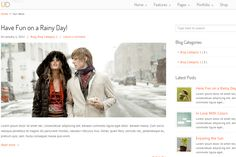 U-Design- Blog page layout of this theme with right sidebar