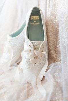 ca477eaf9ba7 Kate Spade Keds are just as sparkly and pretty as any heel—and a lot more  comfortable to boot. Wedding Shoes BrideWedding ...