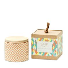 White Peach Ceramic Candle - so heavenly & divine! From Me & My Trend
