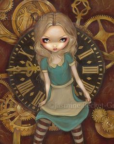 Art: Alice in Clockwork by Artist Jasmine Ann Becket-Griffith