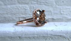 Stunning Halo Pave Diamond and Zircon Ring. - 11 Main