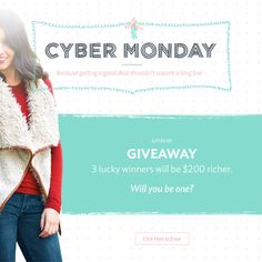 I just entered the Jane.com #CyberMonday #Giveaway for a chance to win $200 CASH! Enter here: http://vryjn.it/cybermonday-pin