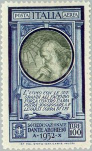 Stamps ©: Stamp of Italy [On Italian poet Dante Alighieri] Rare Stamps, Vintage Stamps, Postage Stamp Art, Dante Alighieri, Penny Black, Mail Art, Stamp Collecting, My Stamp, History