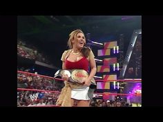 Trish Stratus vs. Victoria + Mickie Debut: RAW, Oct. 10, 2005 (HD)