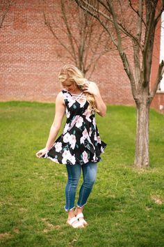 Flowing Days of Spring Tunic