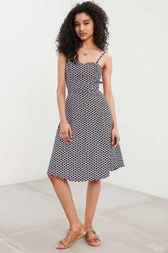 Della Ballerina Tie-Back Dress #UrbanOutfitters