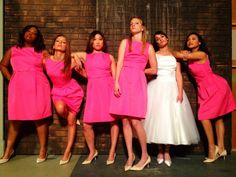The Ladies of Glee (they posed like the girls in Bridesmaids)