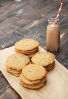 banana chocolate chip cookies & chocolate banana milk.