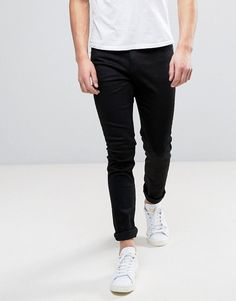 CHEAP MONDAY JEANS TIGHT SKINNY FIT IN NEW BLACK - BLACK. #cheapmonday #cloth #