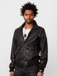 Lambskin Flight Jacket - Denim & Supply  Leather & Suede - RalphLauren.com