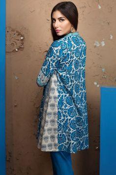 Khaadi 2 Piece Stitched Printed Lawn Suit - J17211 - Blue - libasco.com #khaadi #khaadionline #khadiclothes #khaadi2017 #kaadisummer
