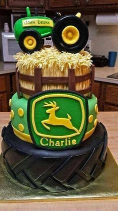 @Jennie Rasmussen Con's next Birthday cake? I love the tire and the wheat!