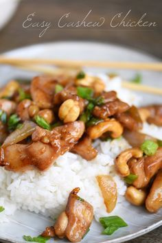 Easy Cashew Chicken takes less than 30 minutes to make and is way better than takeout! A fabulous quick and easy dinner recipes the whole family will LOVE!