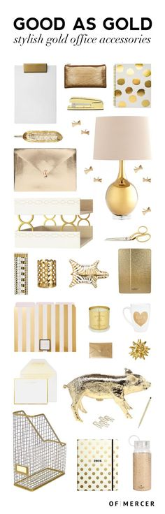 Gold Desk Accessories | Of Mercer Blog