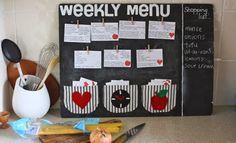 Как составить меню на неделю
