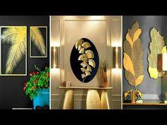 DIY leaf home decorating ideas | fall wall art | art and craft | Diy craft | Craft Angel - YouTube Fun Diy Crafts, Diy Arts And Crafts, Decor Crafts, Diy Wall Art, Diy Wall Decor, Window Glass Design, Burlap Christmas Ornaments, Gold Leaf Art, Homemade Home Decor