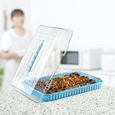 Köşeli Kek Saklama ve Taşıma Kabı / Cornered Cake Storage & Carrier Box