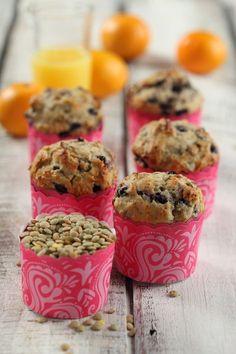Saskatoon Berry Lentil Muffins