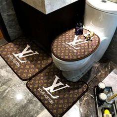 ルイヴィト 浴室足ふきマット gucci トイレ浴室マットエルメス方形マット3点セットU型トイレマット Luxury Bedroom Sets, Luxurious Bedrooms, Luxury Shower, Luxury Bath, Gucci Bedding, Chanel Room, Designer Bed Sheets, Toilet Mat, Louis Vuitton